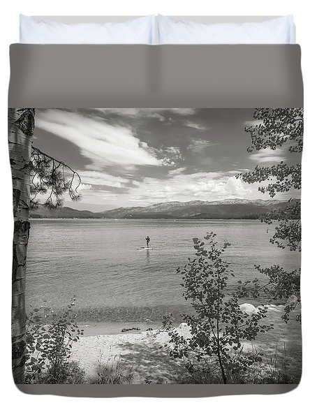 Payette Lake Boarder Duvet Cover