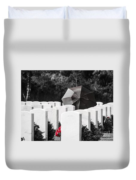 Paying Her Respects Duvet Cover