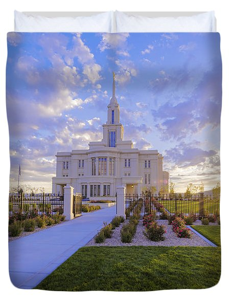 Payson Temple I Duvet Cover
