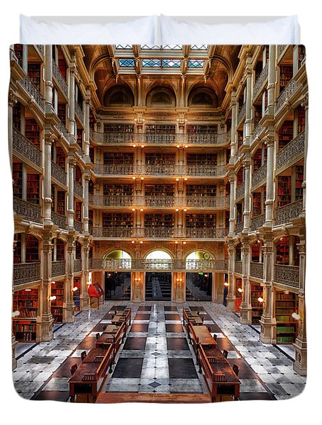 Peabody Library - Johns Hopkins University Duvet Cover