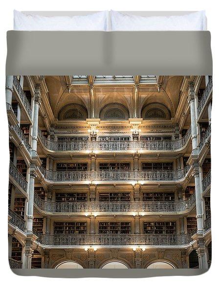Peabody Library Duvet Cover