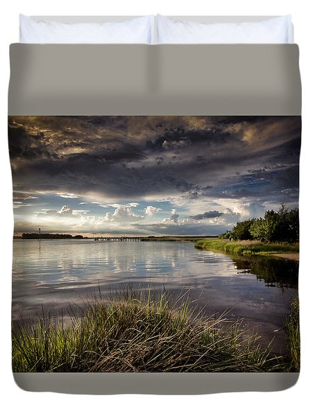 Peace Along The Cape Fear Duvet Cover