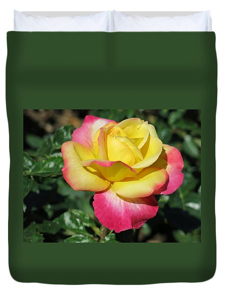 Peace And Love Rose Duvet Cover