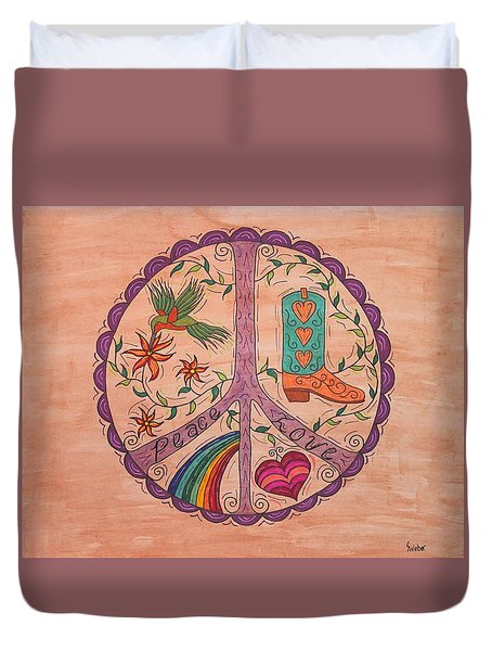 Peace And Love Western Style Duvet Cover