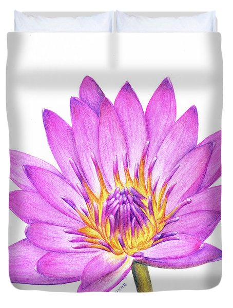 Peace And Purity Duvet Cover