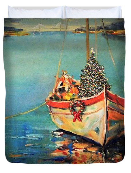Peace At Christmas Duvet Cover