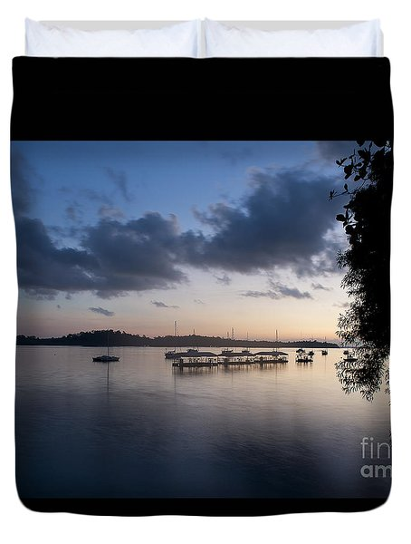 Peace Before Sunrise Duvet Cover by Ivy Ho