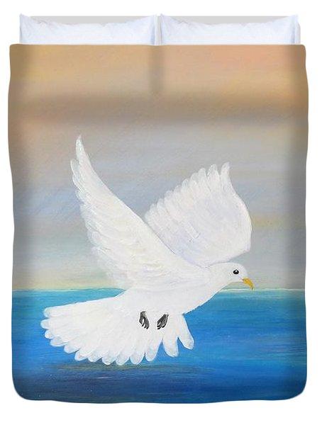 Peace Descending Duvet Cover