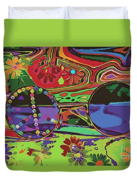 Duvet Cover featuring the digital art Peace Art by Eleni Mac Synodinos