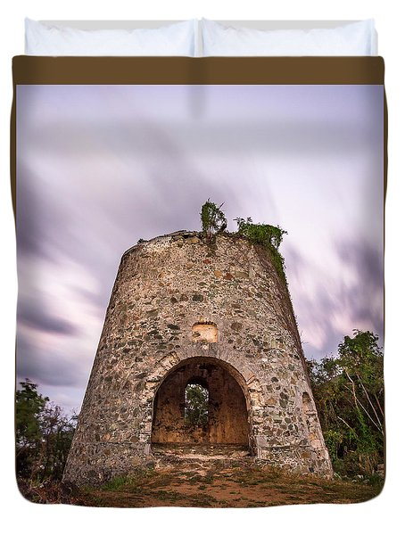Duvet Cover featuring the photograph Peace Hill Sugar Mill by Adam Romanowicz
