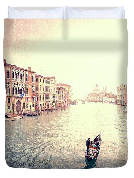 Peace In Venice Duvet Cover