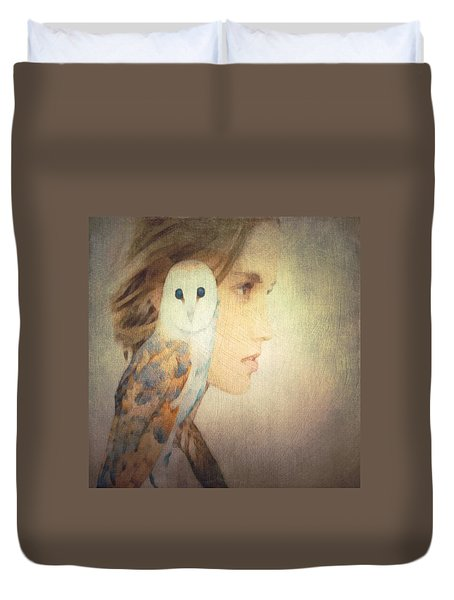 Duvet Cover featuring the digital art Peace by Lisa Noneman