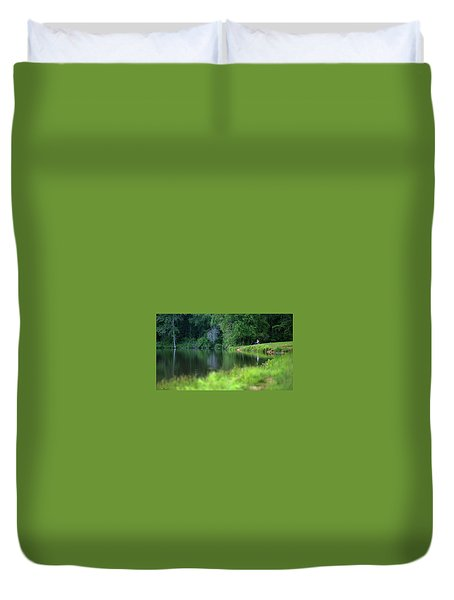Duvet Cover featuring the photograph Peace by Lori Coleman