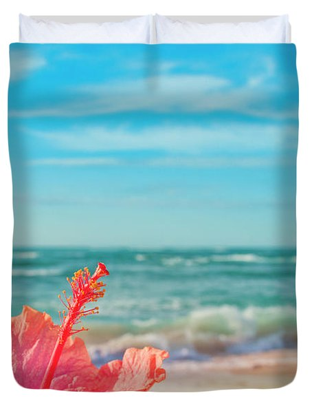 Duvet Cover featuring the photograph Peace Love And Aloha by Sharon Mau