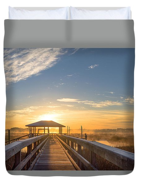 Duvet Cover featuring the photograph Peace by Margaret Palmer