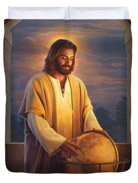 Peace On Earth Duvet Cover by Greg Olsen
