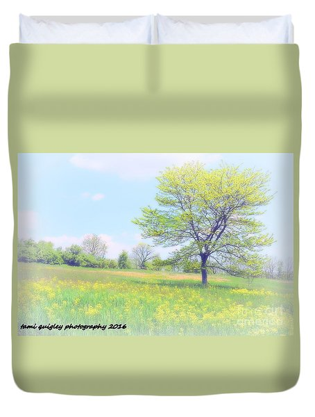 Peace On The Hillside Duvet Cover