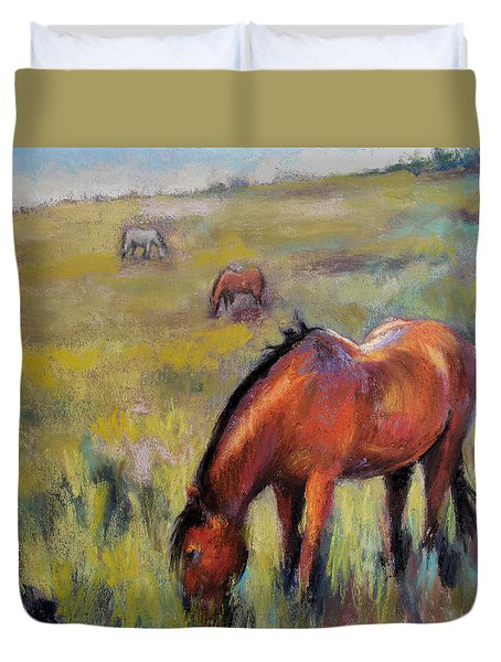 Peace On The Mountain Duvet Cover