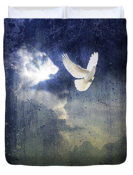 Peace Duvet Cover by Yvonne Emerson AKA RavenSoul