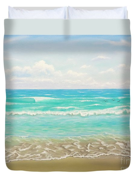 Peaceful Beach Duvet Cover by Jimmie Bartlett