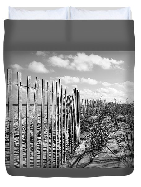 Duvet Cover featuring the photograph Peaceful Beach Scene by Denise Pohl