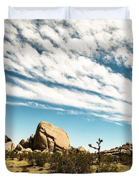 Peaceful Boulder Duvet Cover by Amyn Nasser