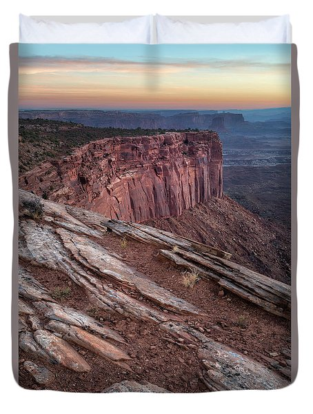 Peaceful Canyon Morning Duvet Cover