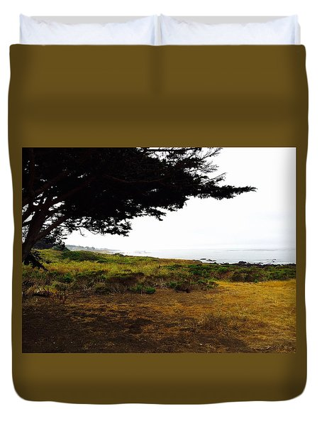 Peaceful Coast Duvet Cover by Russell Keating