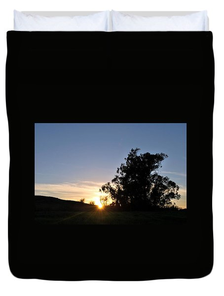 Duvet Cover featuring the photograph Peaceful Country Sunset  by Matt Harang