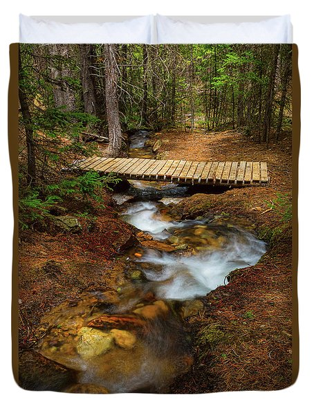Duvet Cover featuring the photograph Peaceful Crossing by James BO Insogna