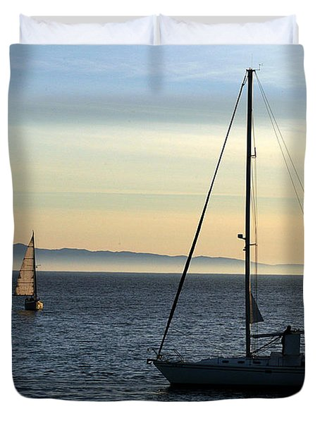 Peaceful Day In Santa Barbara Duvet Cover
