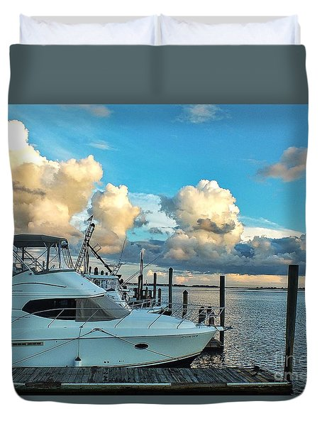 Peaceful Evening Walk  Duvet Cover
