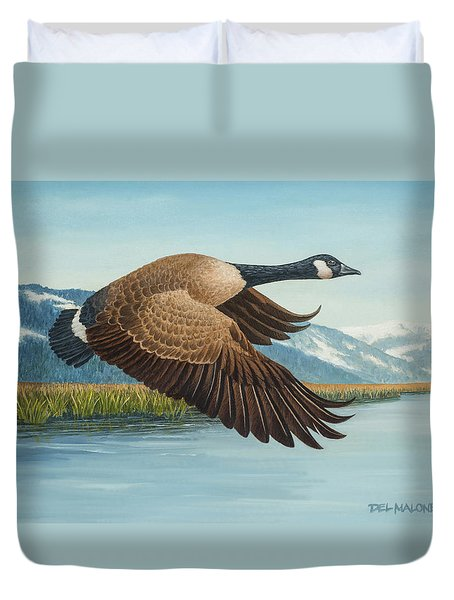 Peaceful Flight Duvet Cover