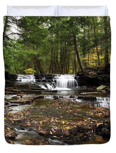 Peaceful Flowing Falls Duvet Cover