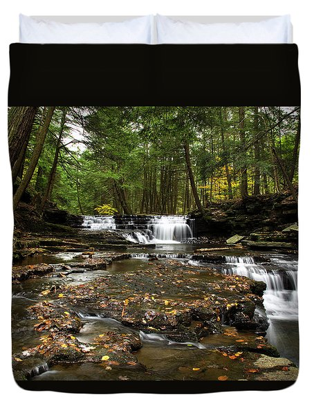 Peaceful Flowing Falls Duvet Cover