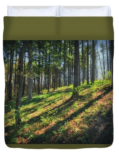 Peaceful Forest 4 - Spring At Retzer Nature Center Duvet Cover by Jennifer Rondinelli Reilly - Fine Art Photography