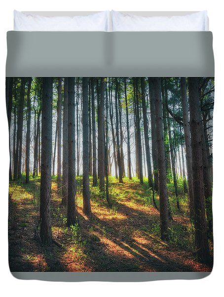 Peaceful Forest - Spring At Retzer Nature Center Duvet Cover by Jennifer Rondinelli Reilly - Fine Art Photography
