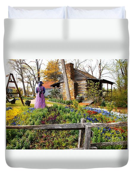 Peaceful Garden Walk Duvet Cover