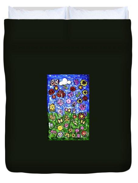 Peaceful Glowing Garden Duvet Cover