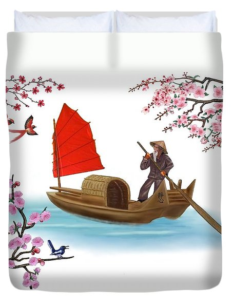 Peaceful Journey Duvet Cover by Glenn Holbrook