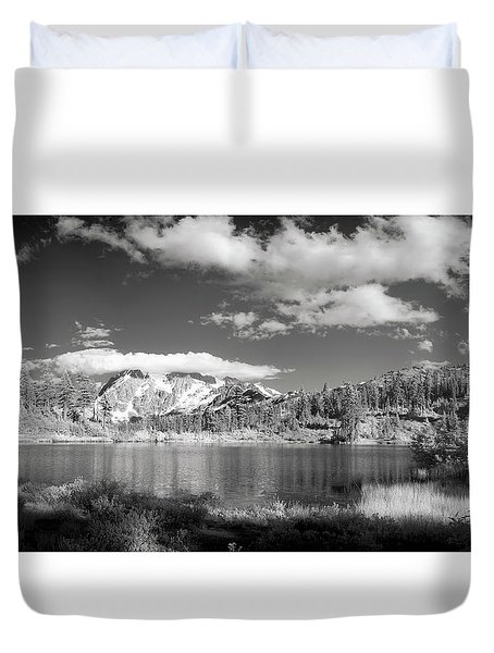 Duvet Cover featuring the photograph Peaceful Lake by Jon Glaser