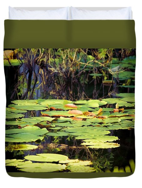 Duvet Cover featuring the photograph Peaceful Light And Shadow by Jan Amiss Photography