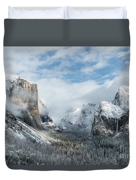 Duvet Cover featuring the photograph Peaceful Moments - Yosemite Valley by Sandra Bronstein