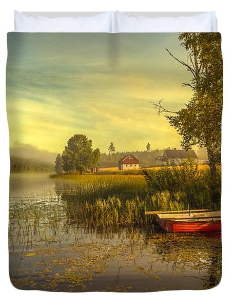Duvet Cover featuring the photograph Peaceful Morning by Rose-Maries Pictures