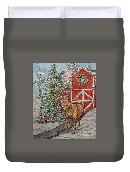 Peaceful Noel Duvet Cover