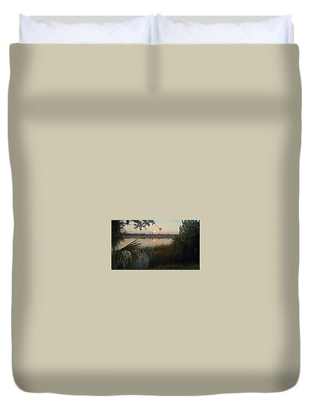 Peaceful Palmettos Duvet Cover