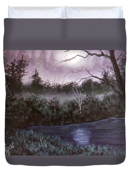 Peaceful Pond Duvet Cover by Dan Wagner