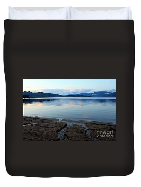 Peaceful Priest Lake Duvet Cover by Carol Groenen