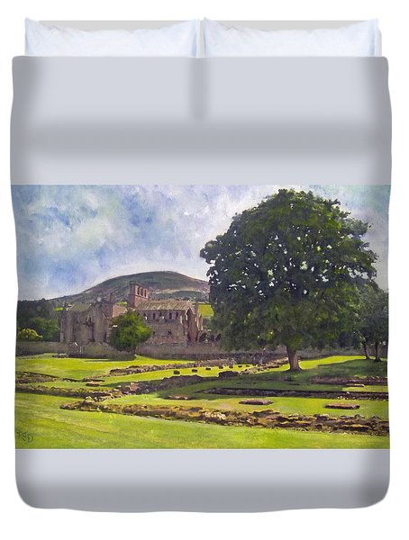 Peaceful Retreat - Melrose Abbey  Duvet Cover by Richard James Digance