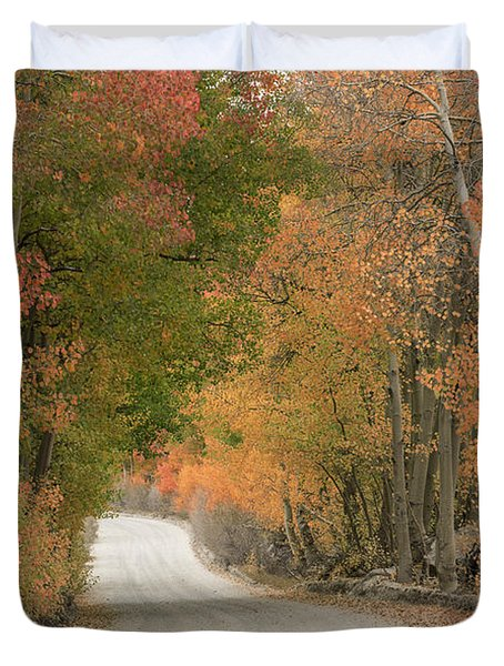 Duvet Cover featuring the photograph Peaceful Sierra Morning by Sandra Bronstein